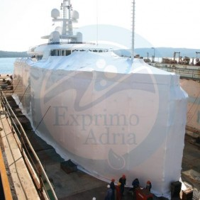 With shrink wrap we provide controlled environment during reconstruction or repairs of vessels